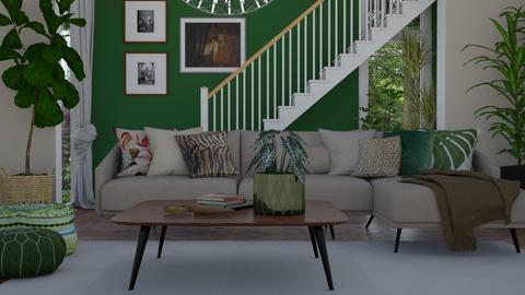Urban jungle - Living room - by Tuija
