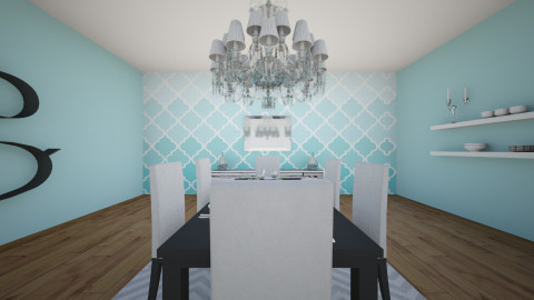 ombre dining room - Dining room - by mkphipps22