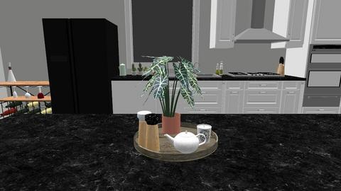 black and white kitchen - Kitchen - by maddiechard1993