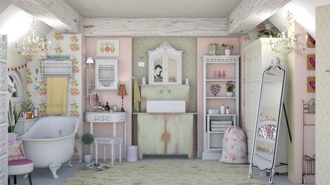 shabby chic bath 1 - by Teri Dawn
