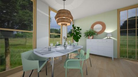 green dining room contest - Dining room - by Annika2005xx