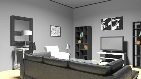 black and white retro - Retro - Living room - by map10