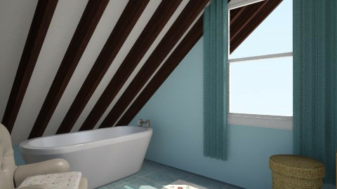 Attic Bathroom - Classic - Bathroom - by Sadiesct