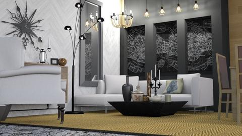 Request 1  - Modern - Living room - by Jessica Fox