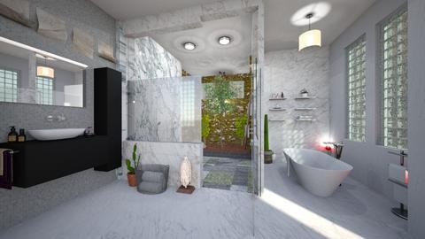 nature bathroom - Bathroom - by Moonpearl