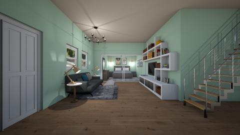 grey room - Bedroom - by natliner