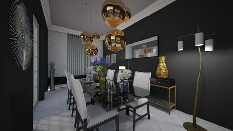 black dining room - Dining room - by cosettevis