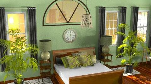 Green Bedroom - Modern - Bedroom - by bleakc
