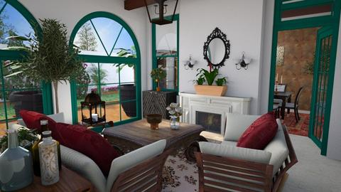 Mediterranean - Living room - by CCPompey