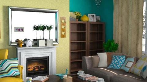 Retro - Retro - Living room - by Rainbowchick
