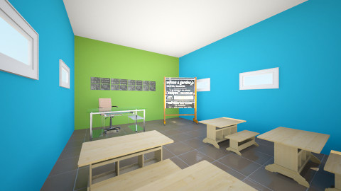 salon  de ingles - Minimal - Office - by ASU ARQUITECTURA