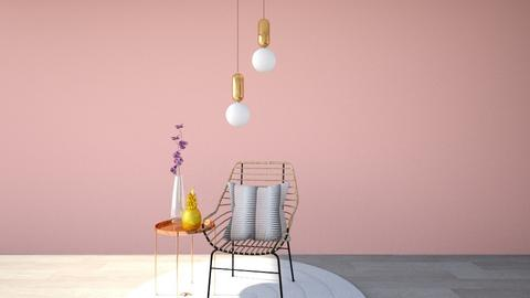 Rose Gold Minimal Room - Minimal - Living room - by GinnyGranger394