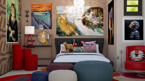 playfully modern bedroom - by Teri Dawn