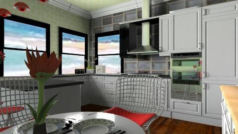 watermelo kitchen - Retro - Kitchen - by goldengirllover