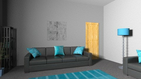turquoise 2 cc - Modern - Living room - by irfanx