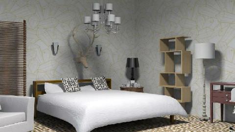 A Tan And Brown Room - Rustic - Bedroom - by Mvlik