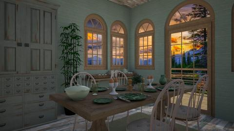 green dining - Dining room - by daydreamer84