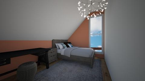 Sloped ceiling bedroom - Classic - Bedroom - by JarvisLegg