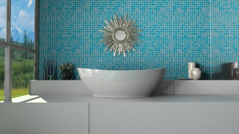 Mountaintop Paradise - Minimal - Bathroom - by Coco_Juno
