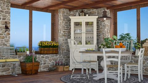 Oceanside Cottage - Kitchen - by GraceKathryn