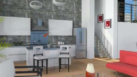 Modern Loft - Modern - Kitchen - by channing4