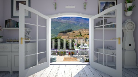 Provence - Garden - by moosierawwr