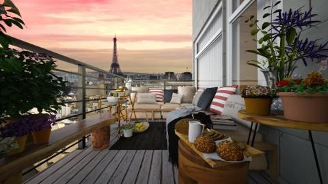 Small Parisian Balcony - by ayudewi382