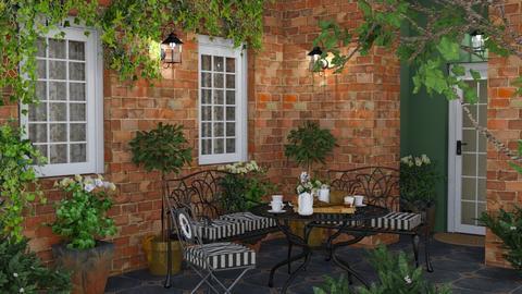 Late Afternoon Tea - Garden - by GraceKathryn