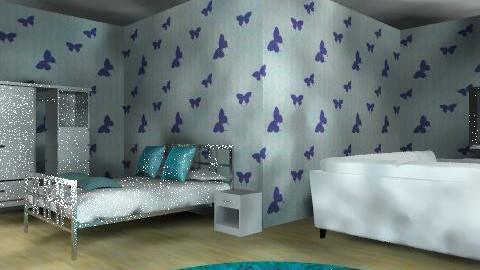 butterfly blues - Bedroom - by bubblebunny