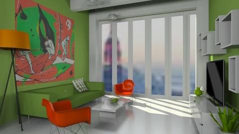 Plastic Living 3 - Minimal - Living room - by mirkaaa