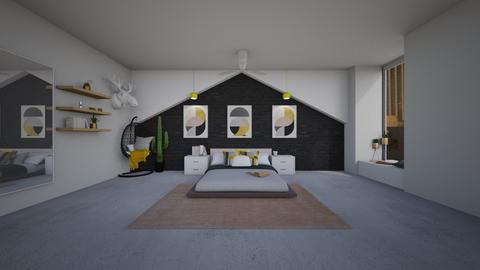 Playful Modern Bedroom - Modern - Bedroom - by helsewhi