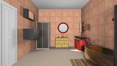 orange - Bathroom - by xLaskax