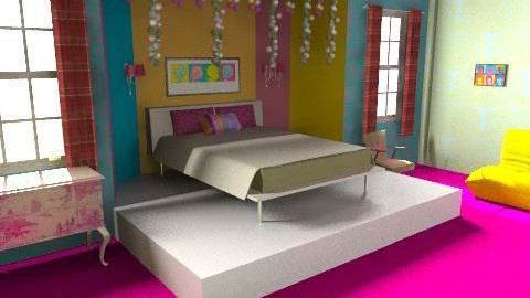 Fluro Bedroom - Retro - Bedroom - by Natur_ali