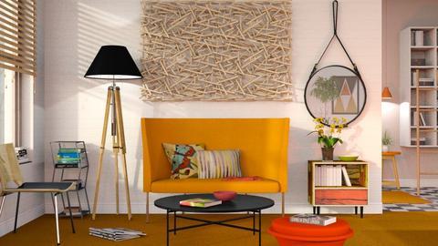 Orange Carpet - Modern - Living room - by Sally Simpson
