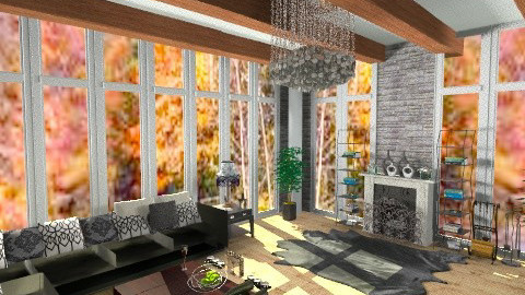 Den - Vintage - Living room - by AshiraLevana