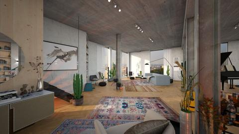 large living space - Living room - by bnu