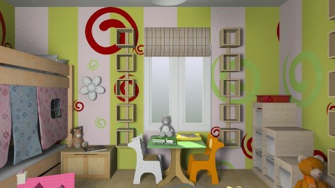 For Alicia 2 - Eclectic - Kids room - by Theadora