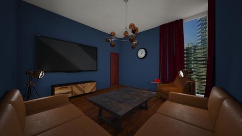 retro - Living room - by AfroditeGoldie