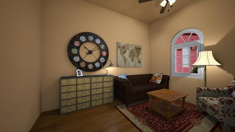 Vintage Room - Vintage - Living room - by cutebaxter123