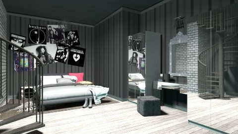 Goth - Bedroom - by Xana Aeraelon