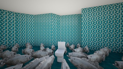 Fishy - Retro - Bathroom - by senorcozzi