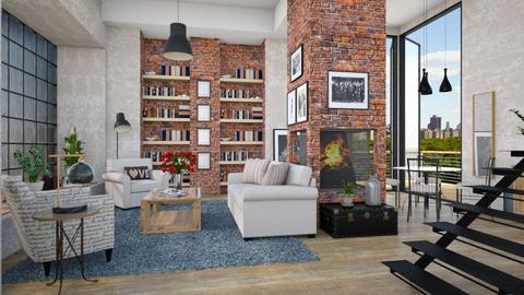 Brick and Glass - Living room - by Lizzy0715