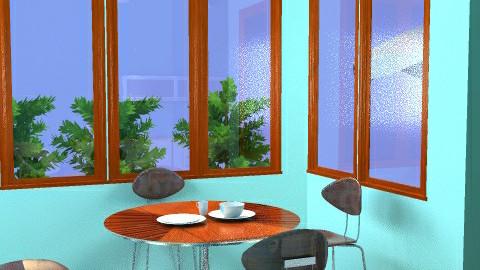 Retro kitchenette: view 2 - Retro - Kitchen - by emmachan
