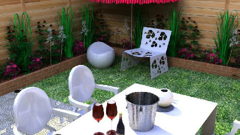 Modern outdoor dining - Modern - Garden - by tiffanybs