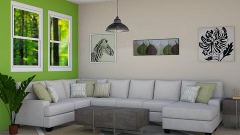 Jungle Living Room - Modern - Living room - by millerfam