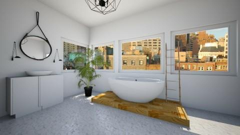 calm bathroom - Bathroom - by carolinedecorates
