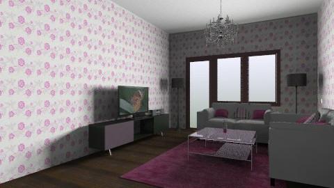 Pink - Modern - Living room - by dakata_kn