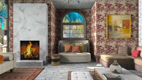 winter at village - Classic - Living room - by vesperart