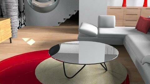 red - Retro - Living room - by designerv