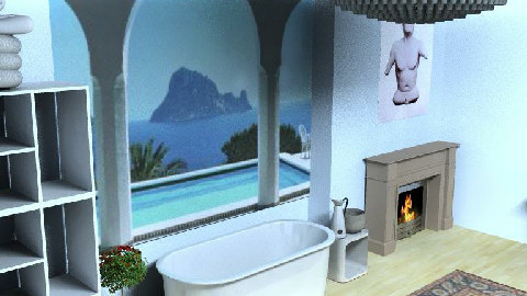 Stone Bathroom - Bathroom - by kimbee